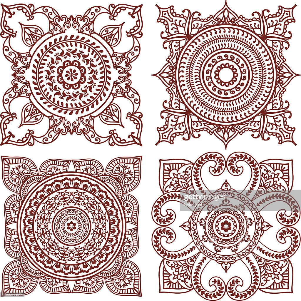 Mehndi Tiles : Vector Art