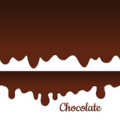 Melted chocolate seamless vector. Sweet drips background.