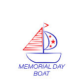 memorial day boat colored icon. Element of memorial day illustration icon. Signs and symbols can be used for web, logo, mobile app, UI, UX on white background