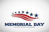 Memorial Day Stars and Stripes Vector Illustration Background