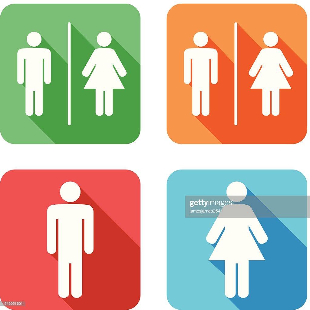 Men And Women Toilet Signs : Vector Art
