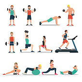 Fitness and workout illustration