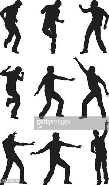 Men getting jiggy with it dancing