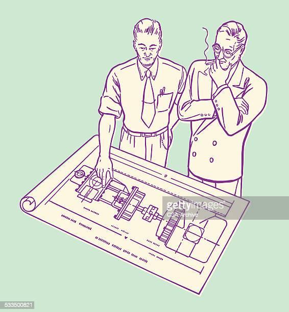 Männer Blick in die Werkzeuge