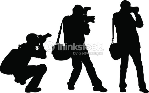 men photographers vector art