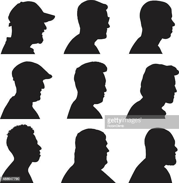 Men Silhouette Profiles