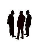 men together, body silhouette vector