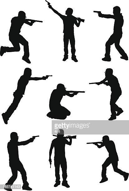 Shooting Gallery Silhouette Stock Illustrations And ...