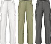 Men work trousers.  vector illustration