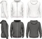 Men hoodie design templates. Vector illustration