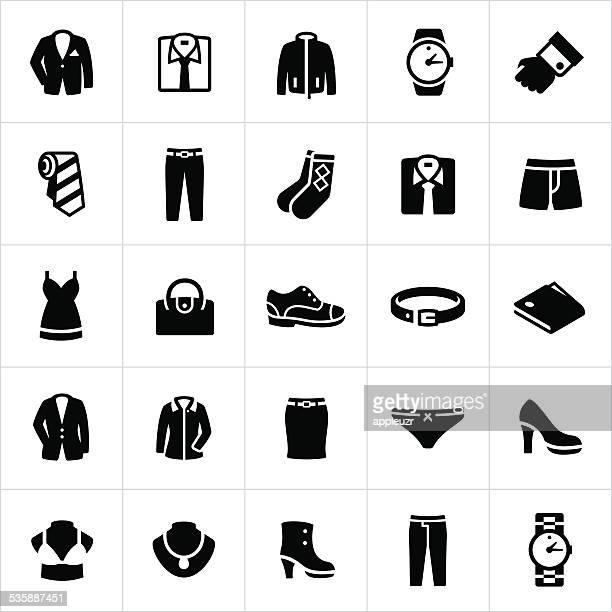Caballero y Womans ropa Formal de iconos