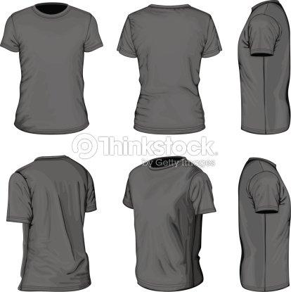 Mens Black Short Sleeve Tshirt Design Templates Vector Art ...