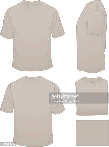 Hommes T-shirt blanc avec Motif gris chiné