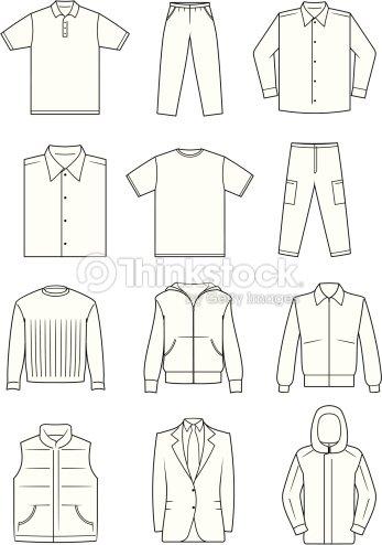 mens clothes vector illustration vector art thinkstock