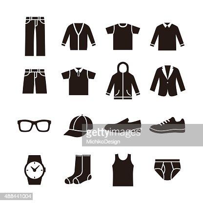 Mens fashion icon : stock vector