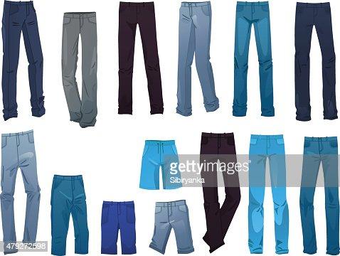 Men's jeans : stock vector