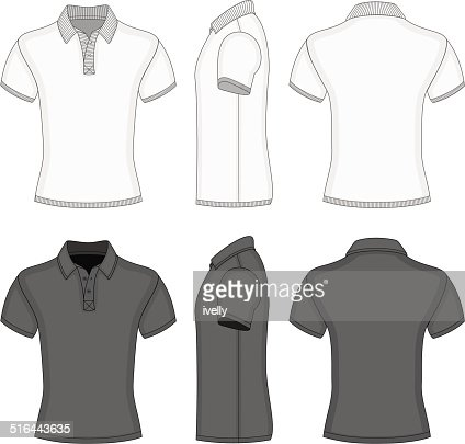 Mens polo shirt and tshirt design templates vector art for Polo shirt design template
