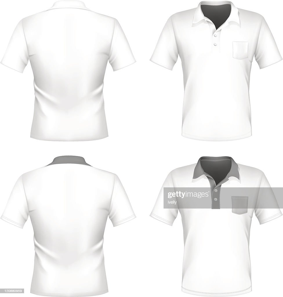 Mens polo shirt design template with pocket vector art getty images mens polo shirt design template with pocket front and back pronofoot35fo Choice Image