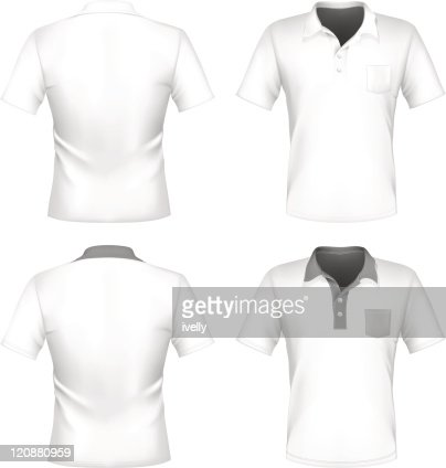 Mens polo shirt design template with pocket vector art getty images pronofoot35fo Choice Image