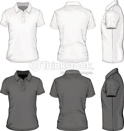 Mens Short Sleeve Poloshirt Design Templates Vector Art