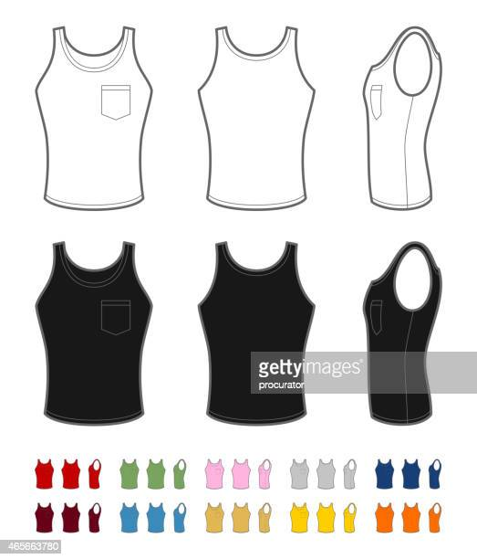 Men's tank top with pocket