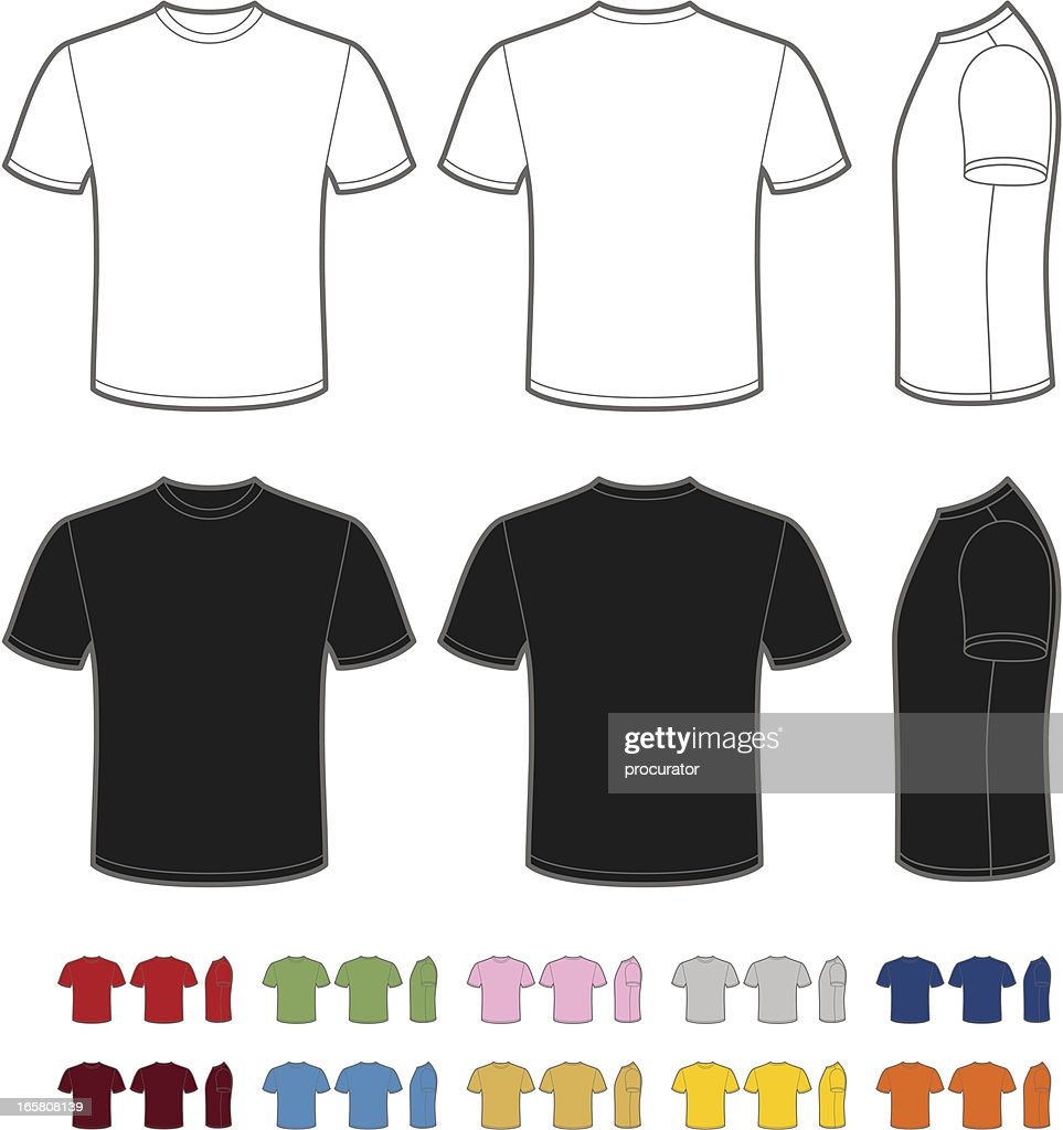 Mens tshirt vector art getty images for Vector art for t shirts