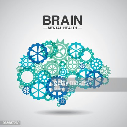 mental health design : stock vector