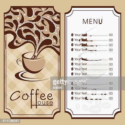 Menu Card Design For Coffee House Vector Art | Getty Images