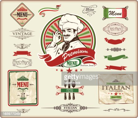 Italian Menu Design Vector Art  Getty Images