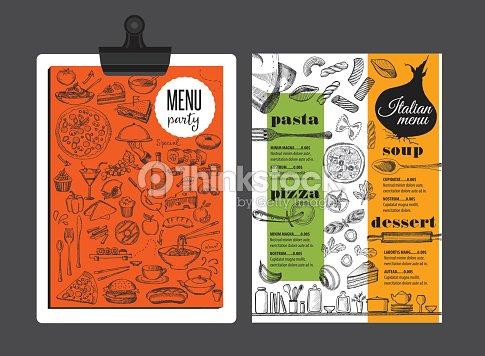 menu italian restaurant food template placemat vector art thinkstock