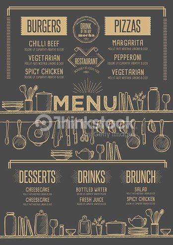 menu restaurant food template placemat vector art thinkstock