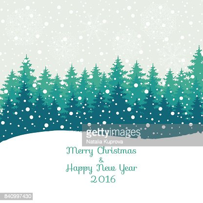Merry Christmas And Happy New Year 2016 Christmas Greeting Card