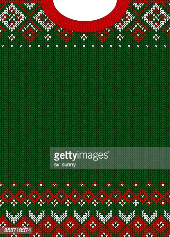 Merry Christmas and Happy New Year greeting card scandinavian ornaments : Vector Art