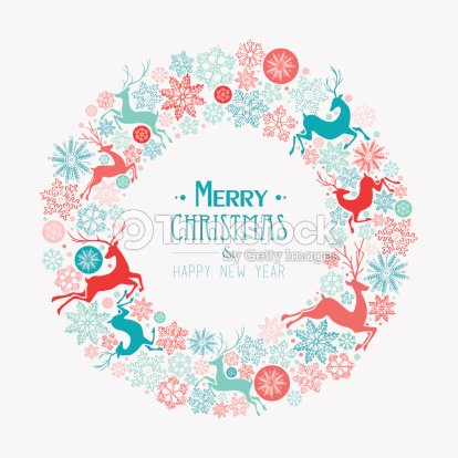 Merry Christmas And Happy New Year Greeting Card Vector Art | Thinkstock
