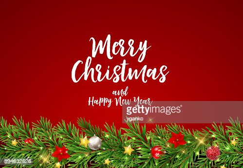 Feliz Navidad y año nuevo fondo. Ilustración de vector : Arte vectorial