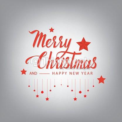 merry christmas cursive hand letters vector art