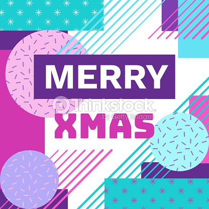 Merry christmas geometric greeting card in trendy 90s style with merry christmas geometric greeting card in trendy 90s style with triangles lines text m4hsunfo