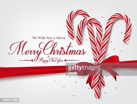 Buon Natale 3d.Buon Natale Auguri Con Realistico 3d Bastoncino Di Zucchero Arte