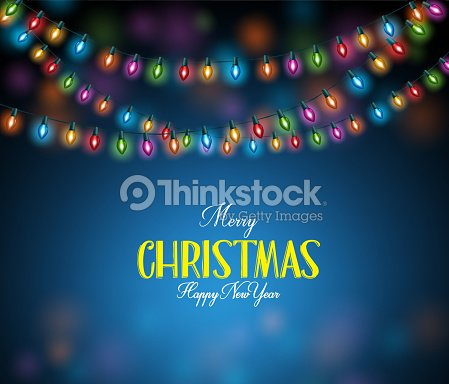 Frohe Weihnachten 3d.Frohe Weihnachten Gruß Wecken Mit Realistische 3d Bunte Lichterkette