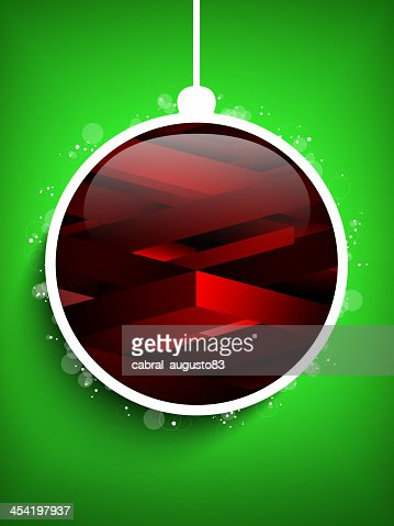 Feliz Navidad y feliz Año Nuevo fondo verde geométrica de bola : Arte vectorial