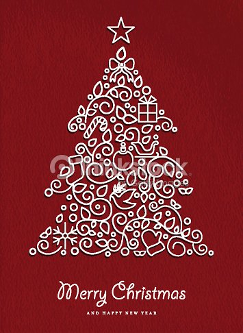 Buon natale e felice anno nuovo albero di natale for Immagini natale stilizzate