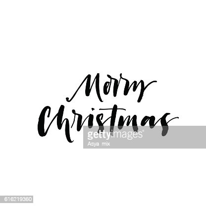 Merry Christmas postcard. : Vector Art
