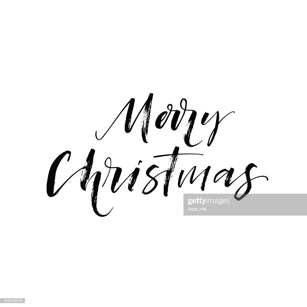Frohe Weihnachten Postkarte. : Vektorgrafik