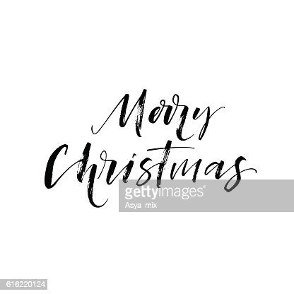 Merry Christmas postcard. : Vector Art