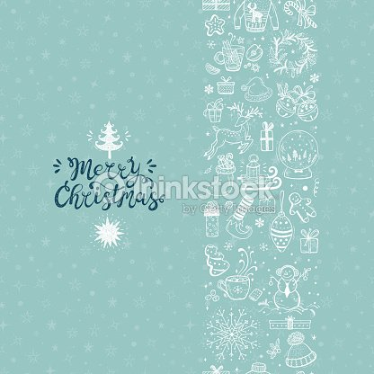 merry christmas seamless pattern vertical border xmas greeting card template happy winter holidays poster new year vector christmas holiday banner