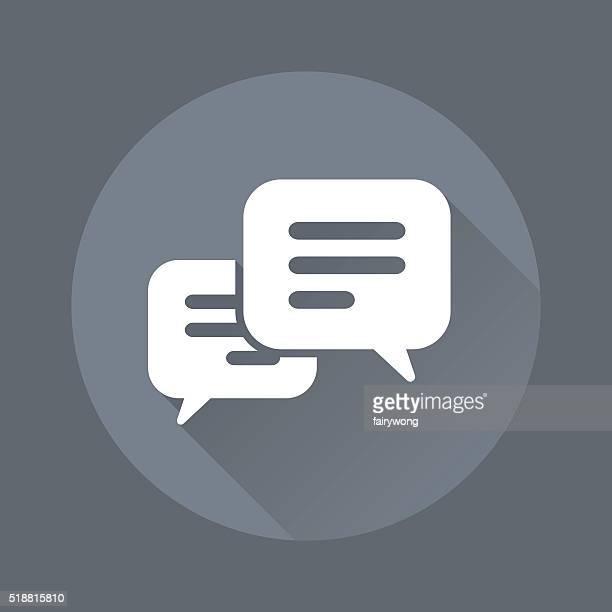 Icône de Message Bubbble