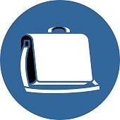 Messenger bag illustration in flat design.