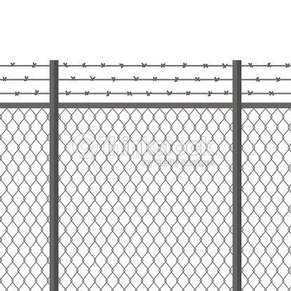Metallzaun Mit Stacheldraht Befestigung Sicherte Eigentum Trennung