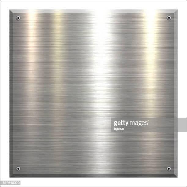 Metal Plate - Brushed metal background