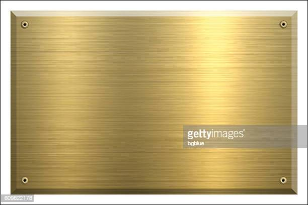 Metal Plate Gold - Brushed metal background